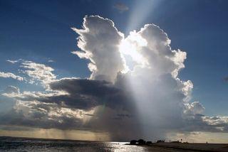 Sun through clouds god like