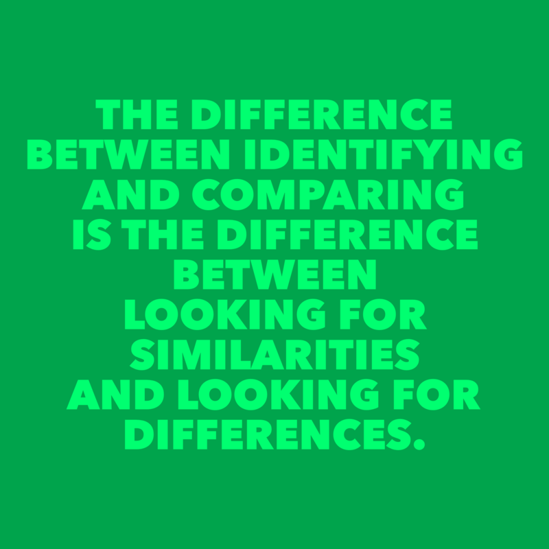 DiffBetweenIdentifyingAndComparing