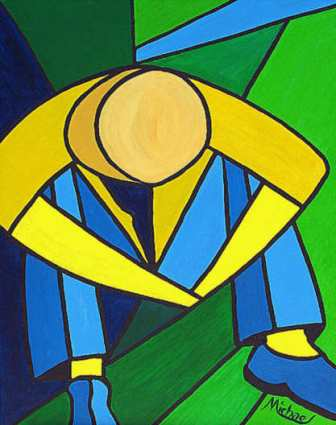 Man in Blue Green and Yellow